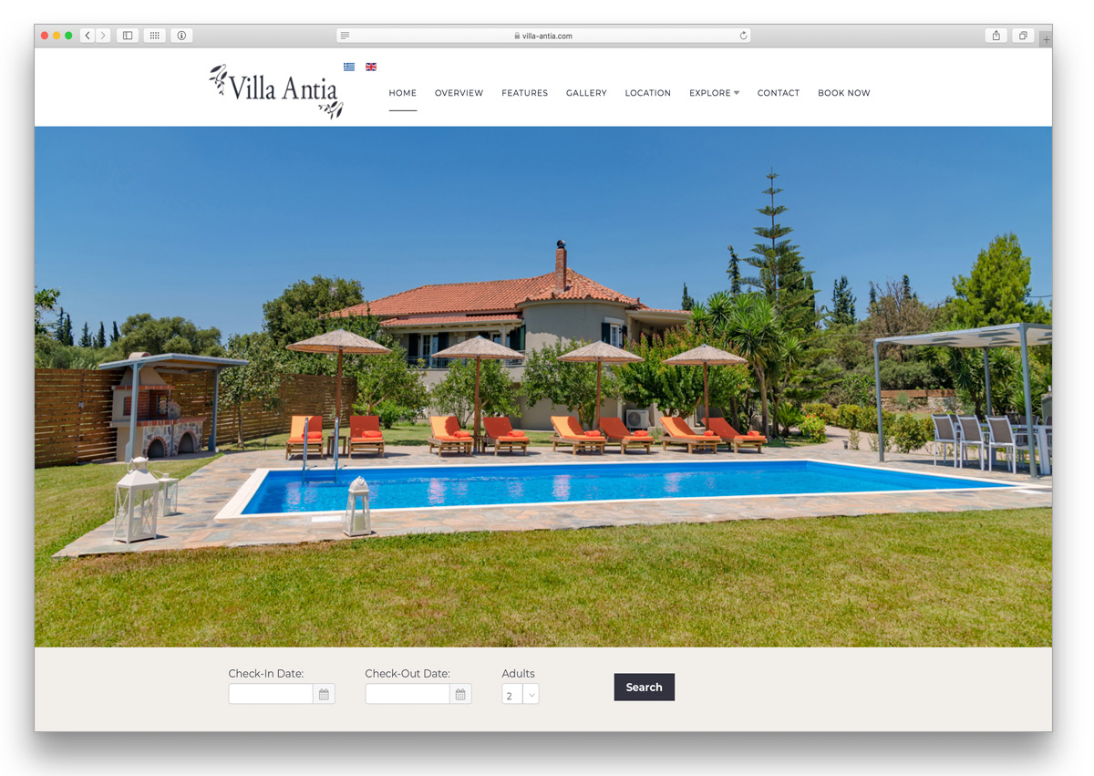 kefalonia website villa antia